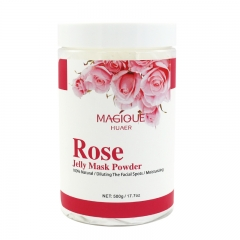 Wholesale Pink Crystal Collagen Rose Mask Hydro Jelly Powder With Petals Peeling Off Rose Petals Moisturizing Jelly Mask Powder